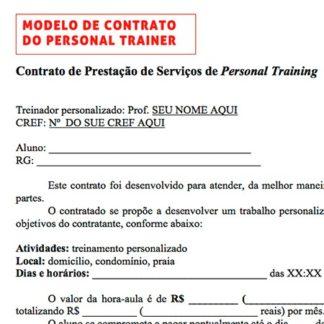 Mais valor ao personal kit personal trainer for Modelo contrato por horas